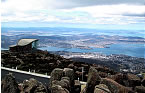 View from summit of Mt Wellington